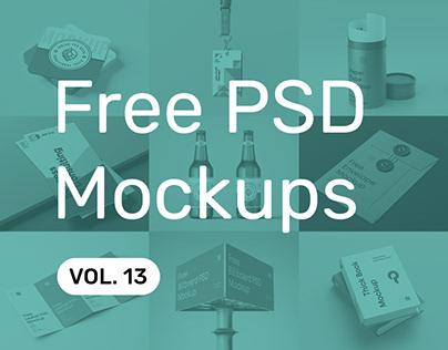 Free PSD Mockups vol. 13