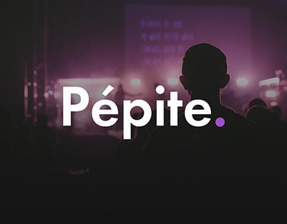 Pépite Music Website Concept