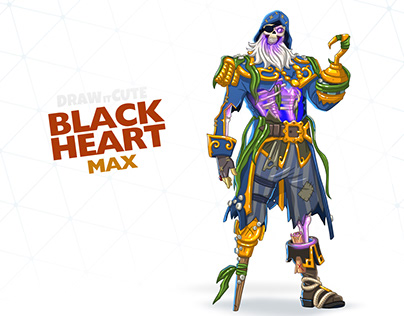 How to draw Blackheart easy Fortnite Season 8 tut on Behance