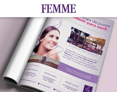 Femme - Anúncio para Revista Vila Mariana