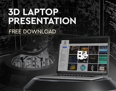 Laptop 3D Website Presentation (Free Project Download)