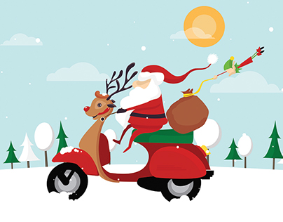 SANTA & THE REINDEER VESPA