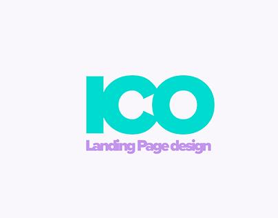 Ico progect landing page design concept