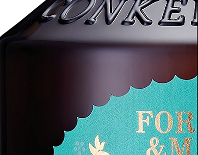 Conker Gin Label. Exclusive to Fortnum and Mason