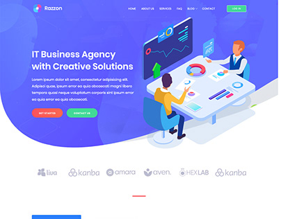 Razzon - IT Startup Agency & Business Website