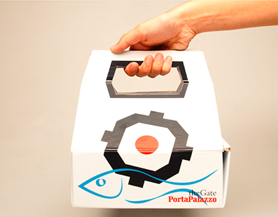 OYSTER - Cardboard packaging for Turin's fish markets