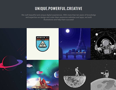 Dark WordPress Theme - Masonry Portfolio