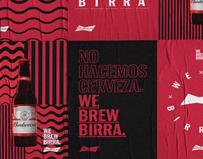 Budweiser. We Brew Birra
