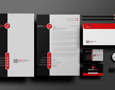 logo, business card, letterhead, stationery items