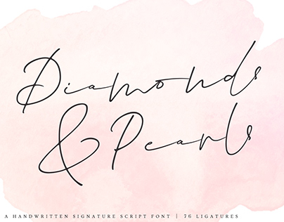 Diamonds & Pearls Signature Script Font
