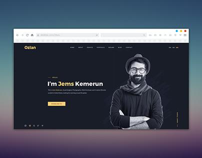 Creative Portfolio Website UI/UX Design