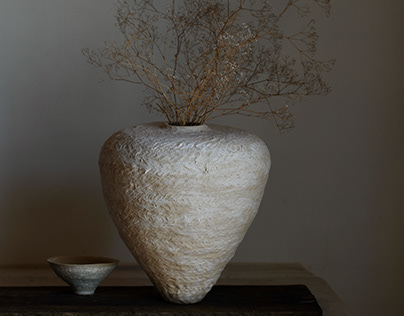 Textured Paperclay Vessels