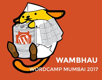 Wambhau - WordCamp Mumbai 2017 Wapuu