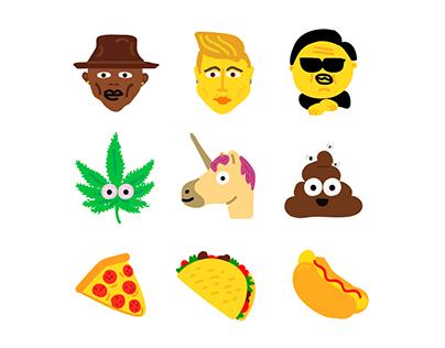MTV Rebrand 2015 illustrations