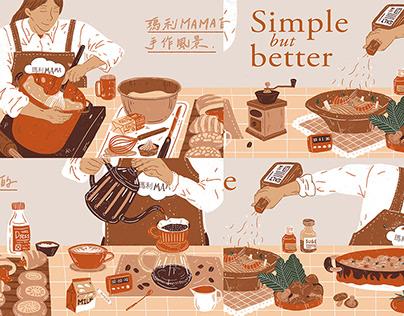 瑪利MAMA手作麵包坊 - 視覺牆設計