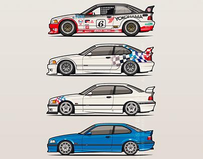 BMW 3 Series E36 Coupes