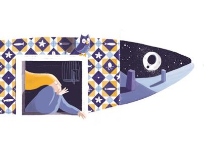 Sardine under the moonlight