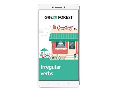 Irregular verbs app. Green Forest