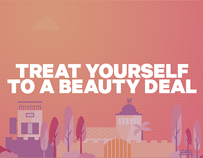 Treat your beauty commercial web campaign - Groupon.
