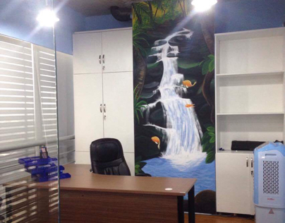 """""""Island"""" office for e-gaming marketing"""