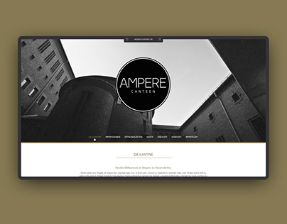 CI, UI/UX – Ampere Canteen – Onepager