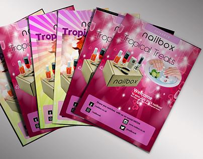 Nailpolish companies flyer design