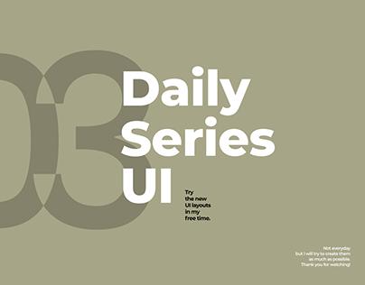 Daily Series UI - 03/2020