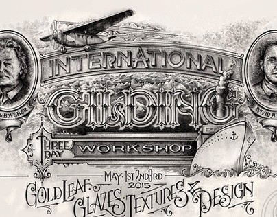 Sketch for Glass Gilding Workshop in US