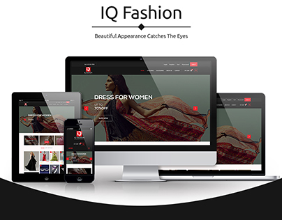 IQ Fashion (E-Commerce Design)