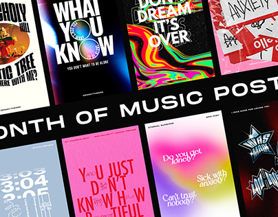 A month of music posters
