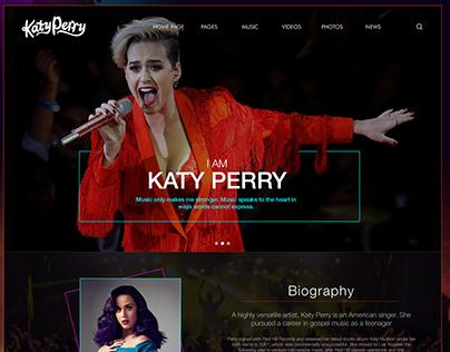 Web Design - Katy Perry