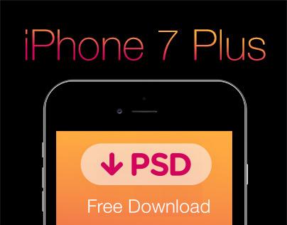 FREE iPhone 7 Plus PSD | Template #freebie #grid #black