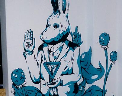Mural. Madriguera Café-ArtShop