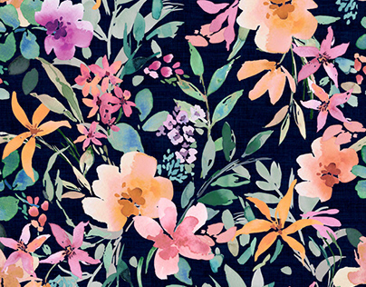 Watercolor floral print