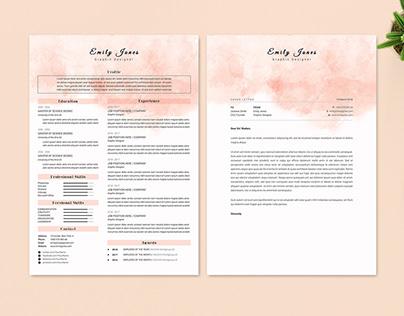 Resume Cv & CoverLetter Template