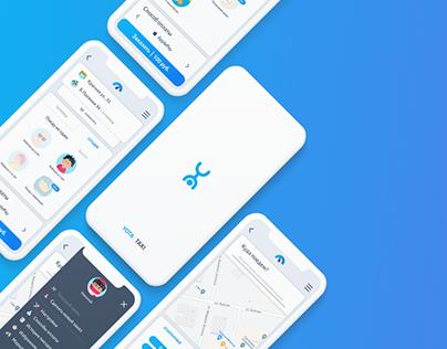 YOTA TAXI Concept App (UX/UI Design)