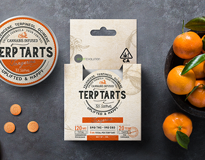 Relax&fun Terp Tarts family, packaging design