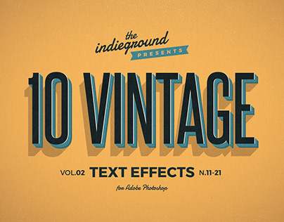 Retro/Vintage Text Effects Vol.2