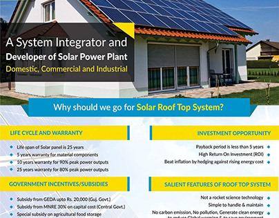 Satyam Electricals Brochure Design
