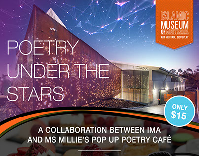 Poetry Under The Stars Event Branding for IMA