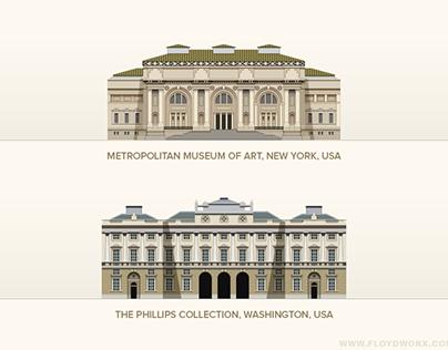 Paris in Paintings - infographic