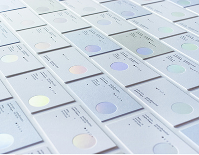Letterpress & holographic  hot-stamping business cards