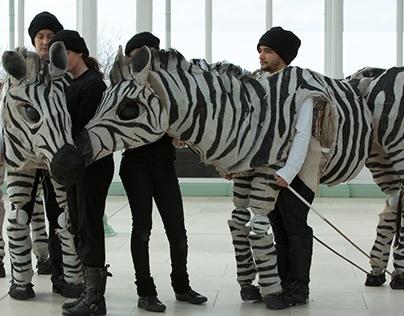Zebra Puppets