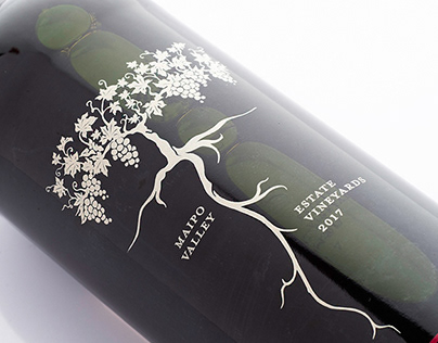 Root:1 Wine Label Illustration