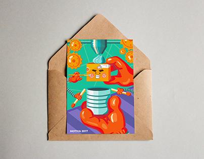 Postal ilustrada - Illustrated postcard
