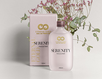 Eternal Gold Perfume Branding Design Project