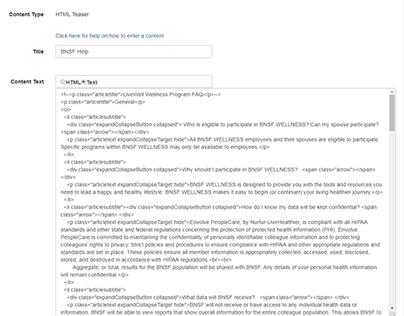Web Portal Editing