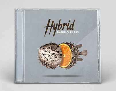 """HYBRID"" album cover for Barrio París"