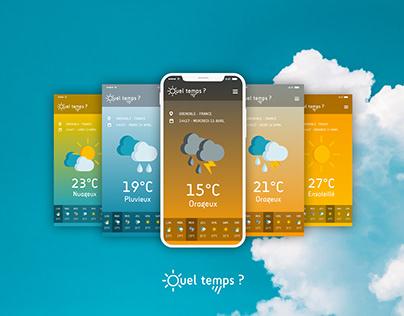 """Application météo """"Quel temps ?"""""""