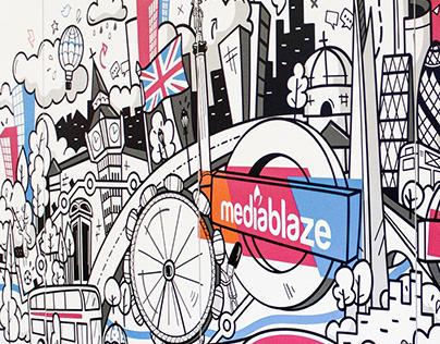Mural Doodle - Skyline of London
